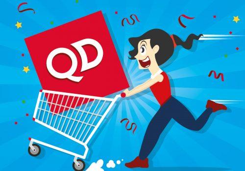 QD Stores Christmas Trolley Dash