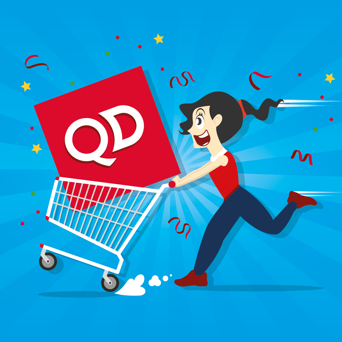 QD Stores Christmas Trolley Dash